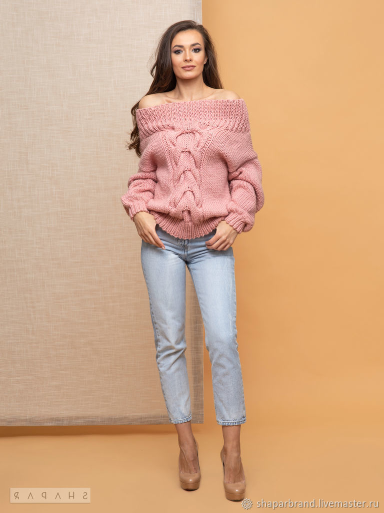 Pink sweater with slumped shoulders, Sweaters, Moscow,  Фото №1