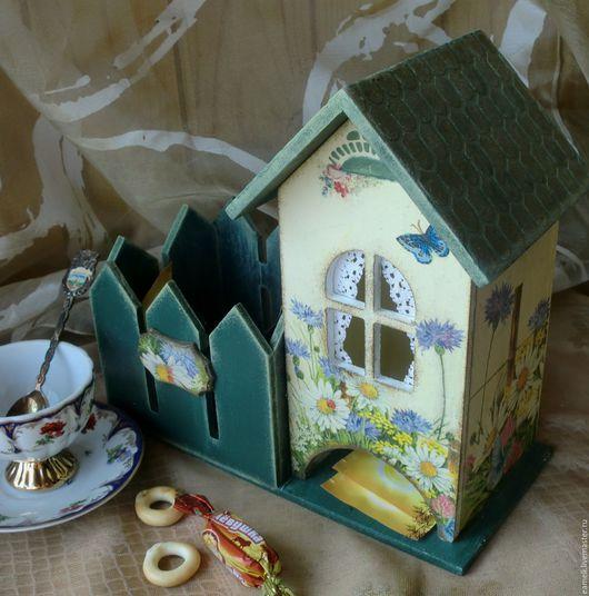"""Кухня ручной работы. Ярмарка Мастеров - ручная работа. Купить """"За околицей"""" чайный домик с заборчиком. Handmade. Комбинированный, заборчик"""
