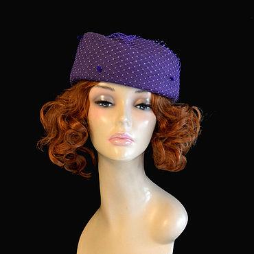 Accessories. Livemaster - original item hats: Asymmetry of purple. Handmade.