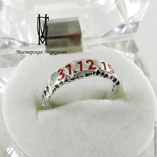 Кольца ручной работы. Ярмарка Мастеров - ручная работа. Купить Кольцо с датой. Handmade. Серебряный, перстень