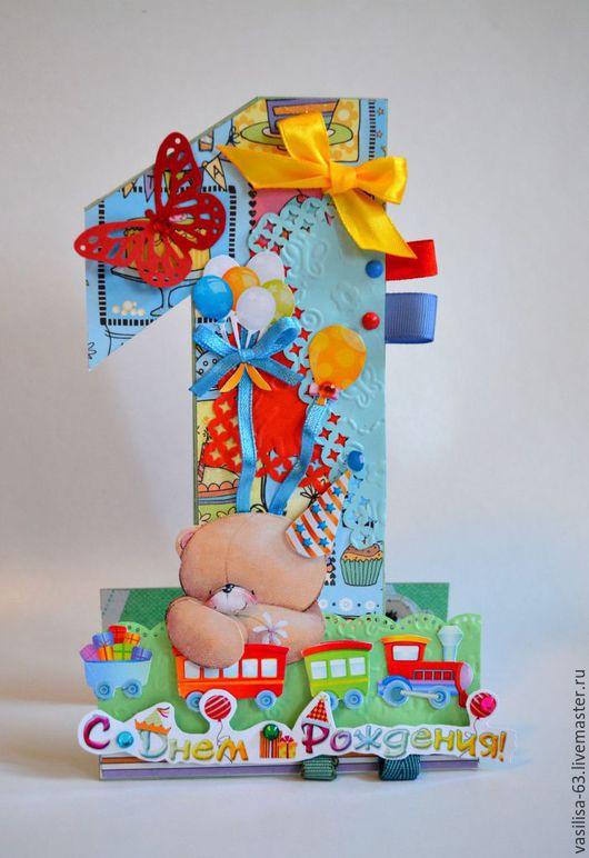 Детские открытки ручной работы. Ярмарка Мастеров - ручная работа. Купить Открытка на год малышу. Handmade. Открытка, на рождение мальчика, малышке