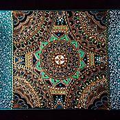 Посуда ручной работы. Ярмарка Мастеров - ручная работа Панно керамическое Indian dance. Handmade.