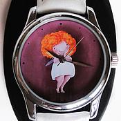 Украшения ручной работы. Ярмарка Мастеров - ручная работа Часы наручные женские с рыжей феечкой от Elina Ellis. Handmade.