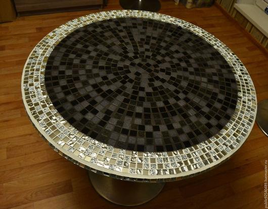 Мебель ручной работы. Ярмарка Мастеров - ручная работа. Купить Стол из мозайки. Handmade. Серебряный, столик из мозаики, металл