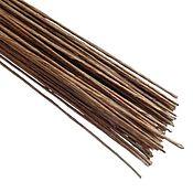 Материалы для творчества handmade. Livemaster - original item Paper Covered Floral wire Stems, Gauge 28 (0.3mm), Brown. Handmade.