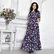 Одежда ручной работы. Ярмарка Мастеров - ручная работа Платье в цветочек. Handmade.
