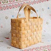 Для дома и интерьера handmade. Livemaster - original item Bag woven from bark. Shopping bag. Handmade.