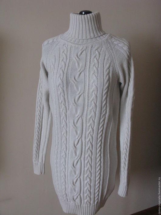 Кофты и свитера ручной работы. Ярмарка Мастеров - ручная работа. Купить платье свитер. Handmade. Белый, свитер с косами