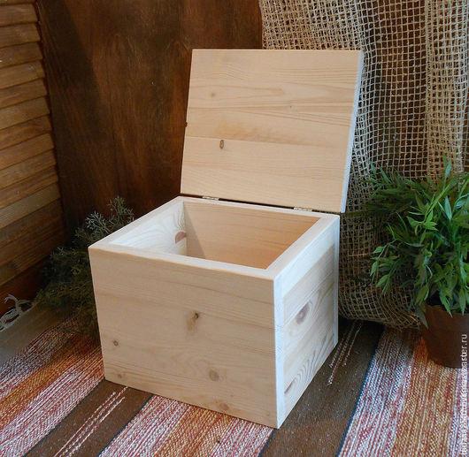 Большой короб с крышкой. Заготовка для декупажа и росписи. Заготовка из дерева. Сосна. 24х20х20