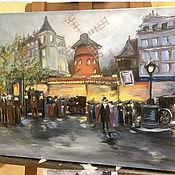 Картины ручной работы. Ярмарка Мастеров - ручная работа Париж. Мулен Руж. Handmade.