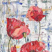 Картины и панно handmade. Livemaster - original item Pastel poppies oil painting. Handmade.