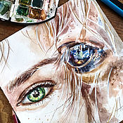 Картины и панно handmade. Livemaster - original item In your eyes-watercolor painting, painting with a horse. Handmade.
