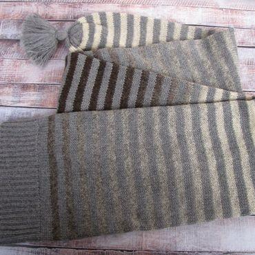 Аксессуары ручной работы. Ярмарка Мастеров - ручная работа Шапка-шарф в полоску. Handmade.