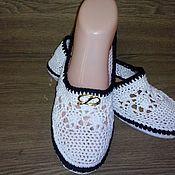 Обувь ручной работы handmade. Livemaster - original item Ballet shoes black and White.. Handmade.