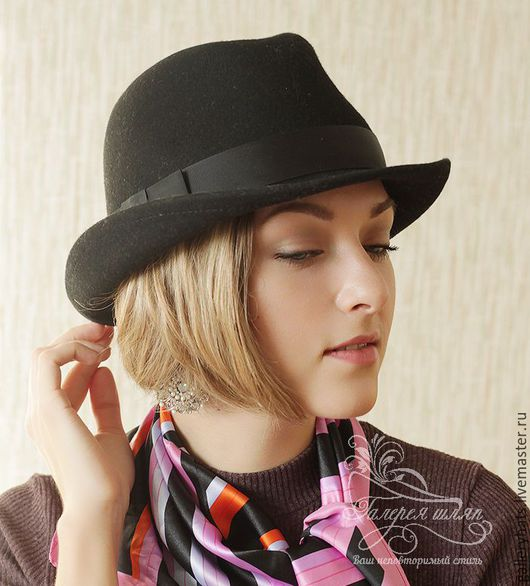 Шляпы ручной работы. Ярмарка Мастеров - ручная работа. Купить Шляпка  Ватсон. Handmade. Черный, однотонный, фетровая шляпа, унисекс