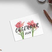 Календарь ручной работы. Ярмарка Мастеров - ручная работа Календарь 2020 (3 варианта). Handmade.