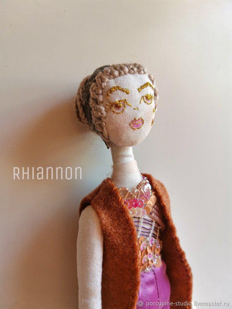 Авторская интерьерная кукла Рианнон. Текстильная кукла. Коллекционная, Куклы и пупсы, Ипсвич,  Фото №1