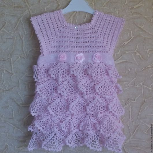 """Одежда для девочек, ручной работы. Ярмарка Мастеров - ручная работа. Купить платье """"розовая мечта"""". Handmade. Комбинированный, платье для девочки"""