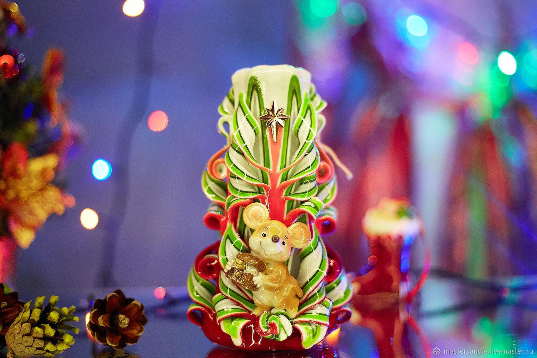 Резная свеча. Символ Нового Года. 2020 Новый Год. Рождество, Свечи, Москва,  Фото №1