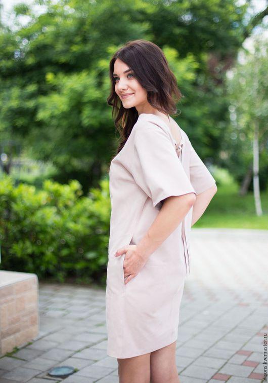 Платья ручной работы. Ярмарка Мастеров - ручная работа. Купить Платье Киото из замши натуральной. Handmade. Однотонный, платье из кожи