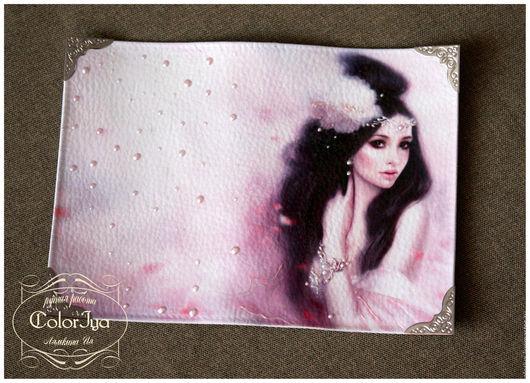 """Обложки ручной работы. Ярмарка Мастеров - ручная работа. Купить Обложка на паспорт """"Розовые сны"""". Handmade. Розовый, подарок девушке"""