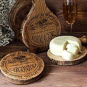 Для дома и интерьера handmade. Livemaster - original item set cheese boards/coasters under hot/elm