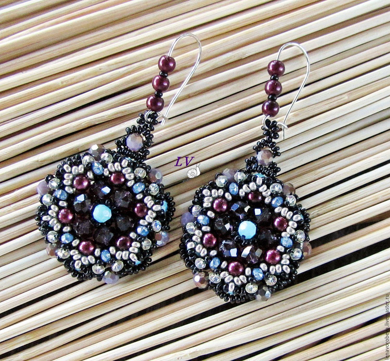 Pendientes de perlas y cristales de swarovski \