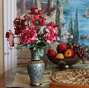 Цветы и флористика ручной работы. Ярмарка Мастеров - ручная работа Интерьерный букет из шелковых цветов Красная осень. Handmade.