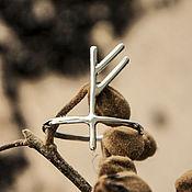 Украшения ручной работы. Ярмарка Мастеров - ручная работа Серебряное кольцо руна - руническое кольцо. Handmade.