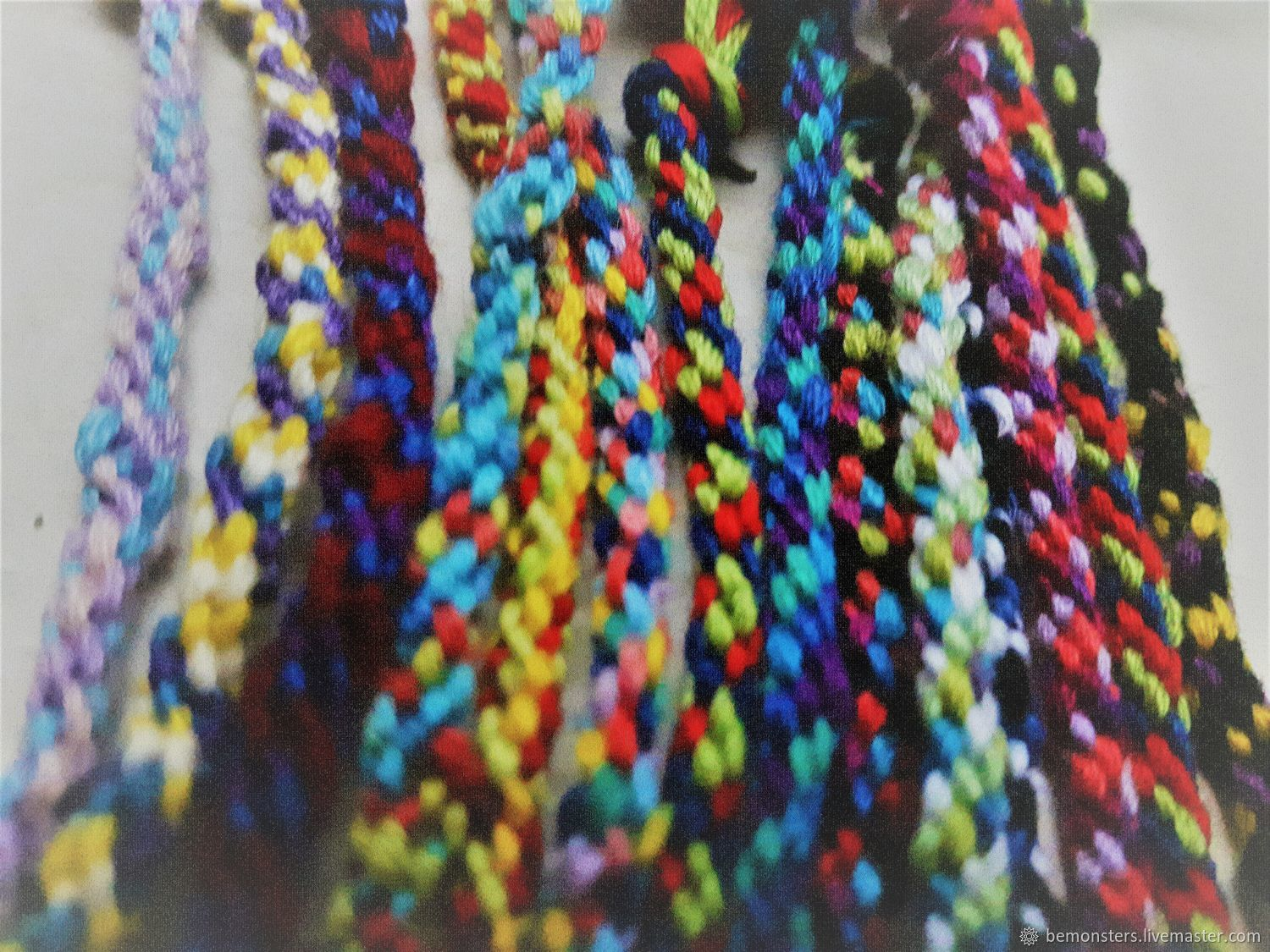 Beautifully Braided handmade Bohemian friendship bracelets. 3 braided bohemian multi-coloured bracelets in each pack. all different colours there are none that are the same. tie on and wear