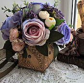 Цветы и флористика ручной работы. Ярмарка Мастеров - ручная работа Цветочная композиция винтажная. Handmade.