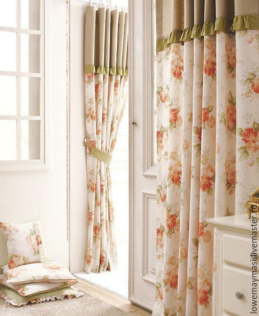 Текстиль, ковры ручной работы. Ярмарка Мастеров - ручная работа. Купить Шторы  из натурального льна Эмели. Handmade. Бледно-розовый