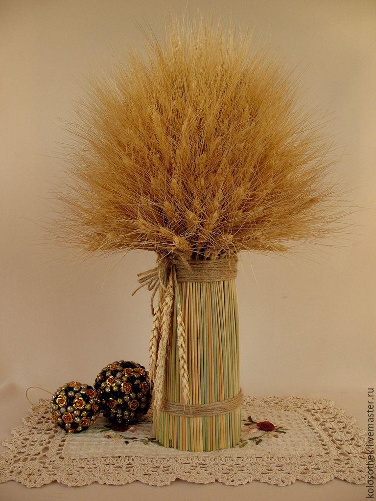 Букет из колосьев пшеницы своими руками 245