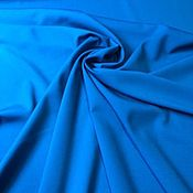 Материалы для творчества handmade. Livemaster - original item Fabric: Wool suit with elastane - Marzotto-ultra blue-blue. Handmade.