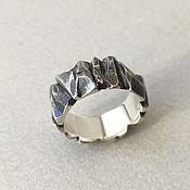 Украшения handmade. Livemaster - original item Silver Ring Chipped. Handmade.