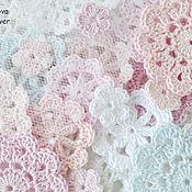 Материалы для творчества handmade. Livemaster - original item Set Gentle gentle knitted decoration for scrap. Handmade.
