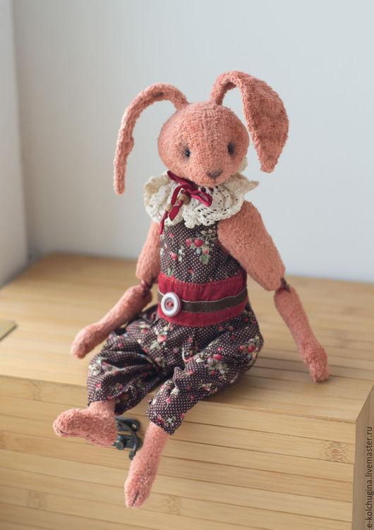 Мишки Тедди ручной работы. Ярмарка Мастеров - ручная работа. Купить Заяц Антон. Handmade. Коралловый, зайка, зайка в подарок