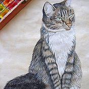 Картины и панно handmade. Livemaster - original item Cat watercolor