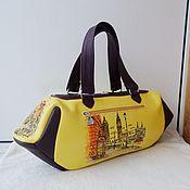 handmade. Livemaster - original item Women`s leather bag with custom painting for Yana.. Handmade.