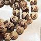 Для украшений ручной работы. Ярмарка Мастеров - ручная работа. Купить ЛОТОС резные бусины семена. Handmade. Коричневый