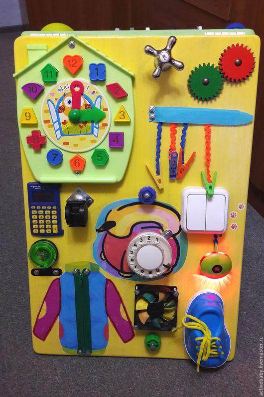 Развивающие игрушки ручной работы. Ярмарка Мастеров - ручная работа. Купить Бизиборд -  Развивающая доска. Handmade. Комбинированный, для детей