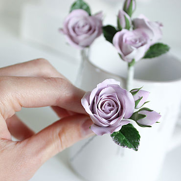 Свадебный салон ручной работы. Ярмарка Мастеров - ручная работа Заколка шпилька для волос с сиреневыми розами набор из 3 шт.. Handmade.
