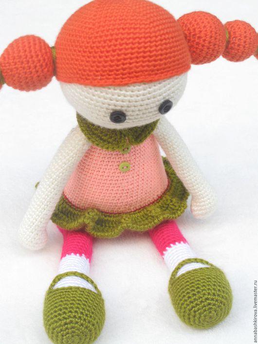игрушки Башкировой Анны, вязанная куколка Софи, вязаные игрушки, развивающие игрушки, игрушки ручной работы