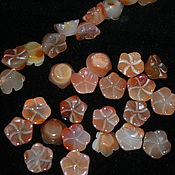 Материалы для творчества handmade. Livemaster - original item Carved beads of carnelian, approx. size: 14h8 mm (natural stone). Handmade.