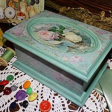 Для дома и интерьера ручной работы. Ярмарка Мастеров - ручная работа Мятная бабушкина шкатулочка. Handmade.