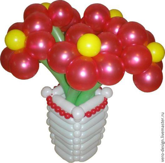 Праздничная атрибутика ручной работы. Ярмарка Мастеров - ручная работа. Купить Букет  из воздушных шаров.. Handmade. Комбинированный, шарики