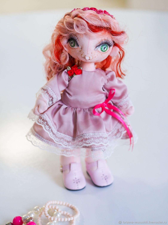 Текстильная кукла Веснушка романтик, Портретная кукла, Подольск,  Фото №1
