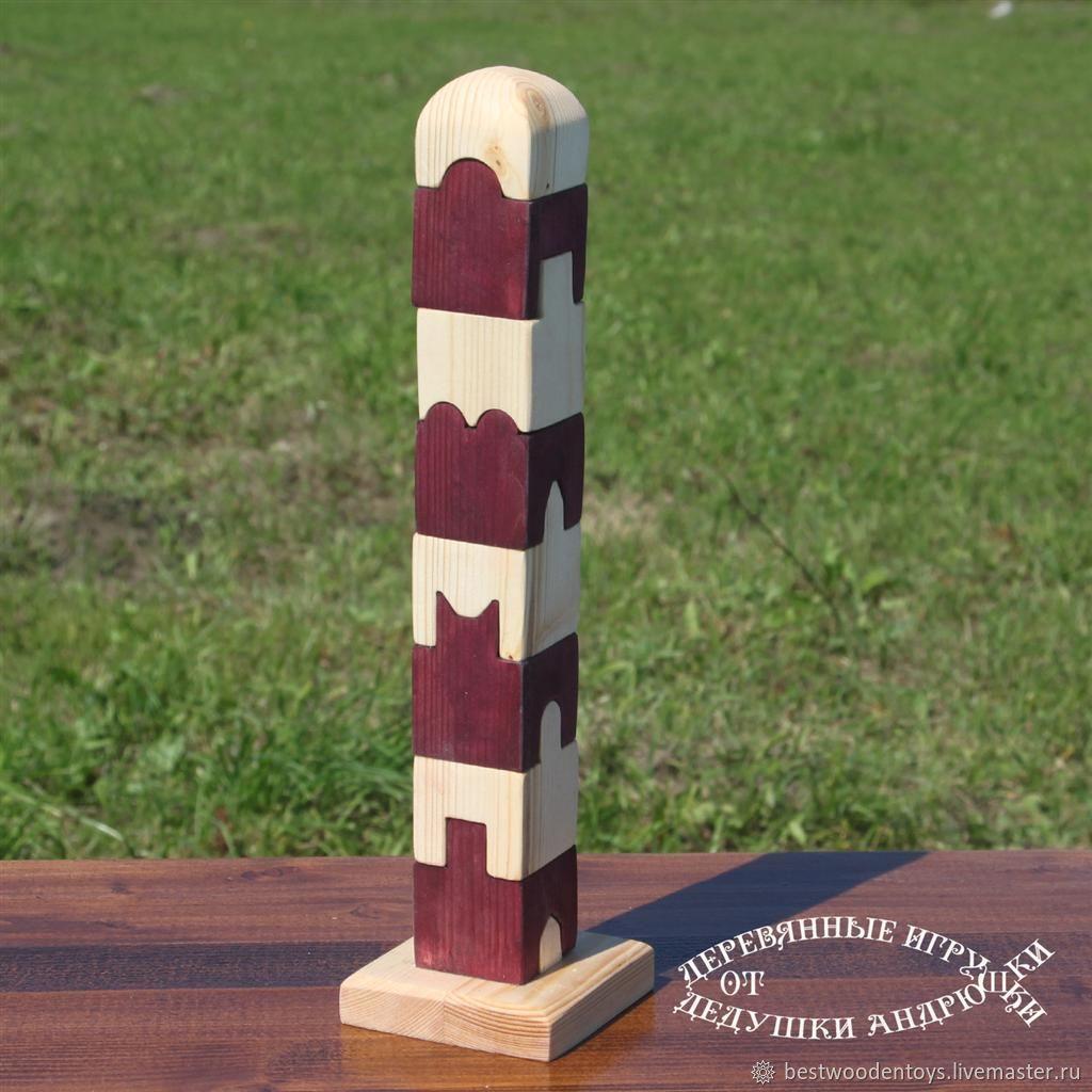 Пирамидка - конструктор деревянная, Развивающие игрушки, Воскресенск, Фото №1