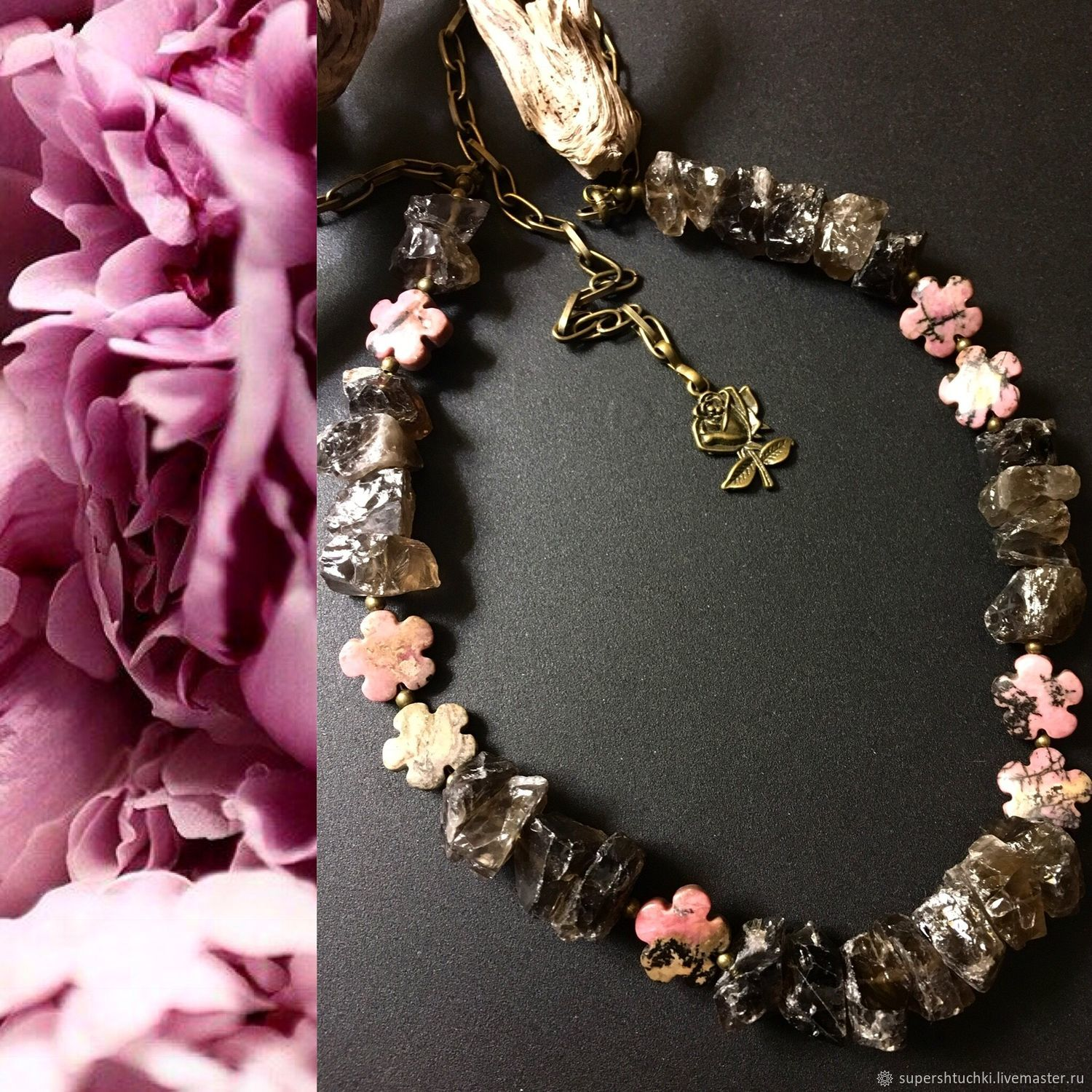 Necklace 'English garden', Necklace, St. Petersburg,  Фото №1