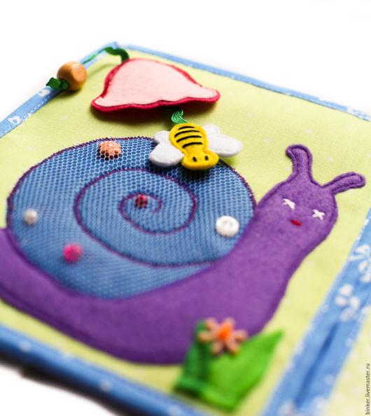 Развивающие игрушки ручной работы. Ярмарка Мастеров - ручная работа. Купить Улитка-лабиринт (развивающая книжка). Handmade. Развивающая игрушка